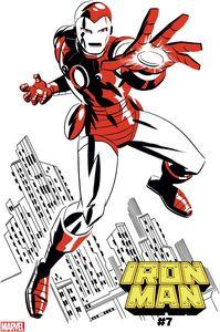 [Iron Man #7 (Michael Cho Iron Man Two-Tone Variant) (Product Image)]