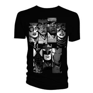 [Marvel: T-Shirt: Avengers Line-up Panel (Product Image)]