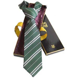 [Harry Potter: Slytherin Silk Necktie In Madam Malkins Box (Product Image)]