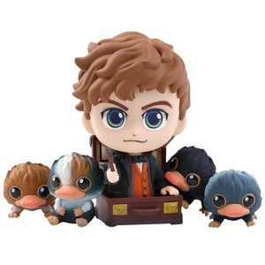 [Fantastic Beasts: The Crimes Of Grindelwald: Cosbaby Figures: Newt & Baby Nifflers (5 Pack) (Product Image)]