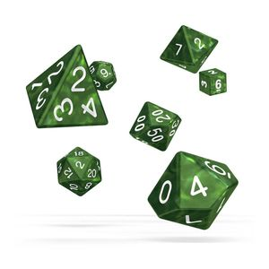 [Oakie Doakie Dice: RPG 7 Set: Marble Green (Product Image)]