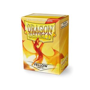 [Dragon Shield: Card Sleeves: Matte Yellow (Box Of 100) (Product Image)]