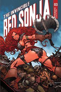 [Invincible Red Sonja #3 (Cover P Premium Moritat Variant) (Product Image)]