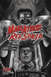 [Mars Attacks/Red Sonja #4 (Strati Black & White Variant) (Product Image)]