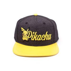 [Pokemon: Embroidered Snapback Cap: Pikachu (Product Image)]