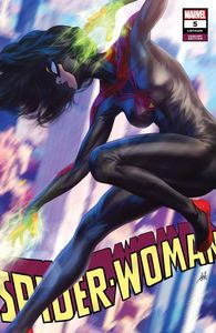 [Spider-Woman #5 (Artgerm Black Costume Variant) (Product Image)]