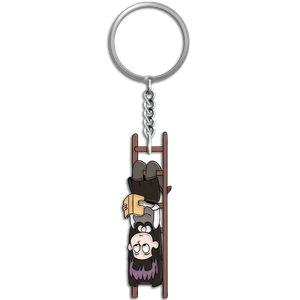 [Hilda: Enamel Keychain: The Librarian (Product Image)]