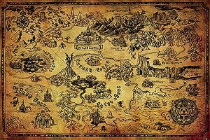 [The Legend Of Zelda: Breath Of The wild Poster: Hyrule Map (Product Image)]