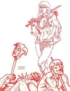 [Red Sonja #23 (Linsner Tint Virgin Variant) (Product Image)]