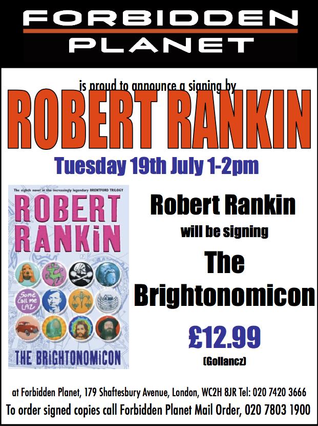 Robert Rankin Signing The Brightonomicon