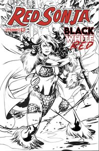 [Red Sonja: Black White Red #1 (Cover J Lupacchino Black & White Variant) (Product Image)]