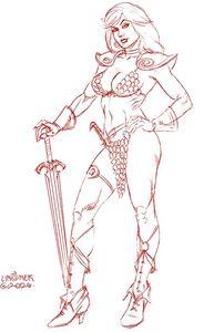 [Red Sonja #16 (Linsner Tint Virgin Bonus Variant) (Product Image)]