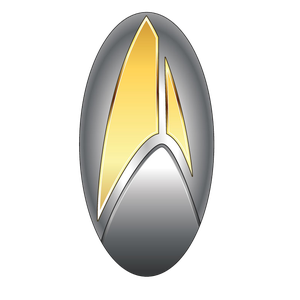 [Star Trek: Discovery: 32nd Century Federation Comms & Transporter Badge (Product Image)]