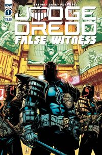 [The cover for Judge Dredd: False Witness #1 (Cover A Zama)]