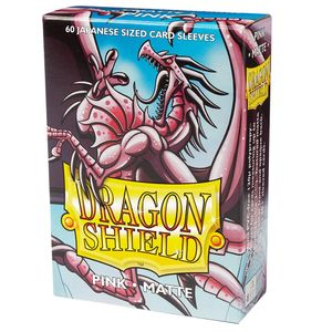 [Dragon Shield: Matte Japanese Size Sleeves 60 Pack: Pink (Product Image)]