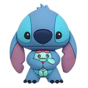 [Lilo & Stitch: 3D Magnet: Stitch With Scrump (Product Image)]