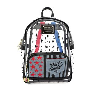 [Harley Quinn & The Birds Of Prey: Loungefly Clear Mini Backpack (Product Image)]