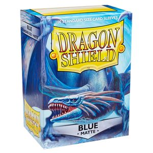 [Dragon Shield: Card Sleeves: Matte Blue (Box Of 100) (Product Image)]