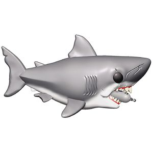 [Jaws: Pop! Vinyl Figure: Jaws With Diving Tank (Product Image)]