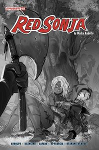 [Red Sonja: 2021 #2 (Cover F Andolfo Black & White Variant) (Product Image)]