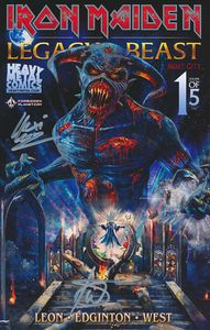 [Iron Maiden: Legacy Of The Beast: Volume 2: Night City #1 (Forbidden Planet Metallic Exclusive - Signed Edition) (Product Image)]
