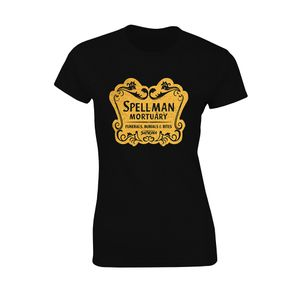 [The Chilling Adventures Of Sabrina: Women's Fit T-Shirt: Spellman Mortuary (Black) (Product Image)]
