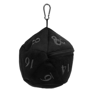 [Dungeons & Dragons: D20 Plush Dice Bag (Black & Red) (Product Image)]