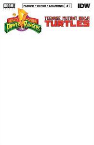 [Power Rangers/Teenage Mutant Ninja Turtles #1 (Blank Variant) (Product Image)]
