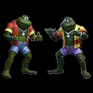 [Teenage Mutant Ninja Turtles: Action Figure 2-Pack: Cartoon Napoleon & Atilla Frog (Product Image)]