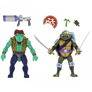 [Teenage Mutant Ninja Turtles: Action Figure 2-Pack: Cartoon Leather Head & Slash (Product Image)]