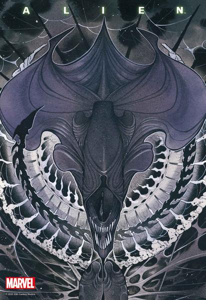 [The cover for Alien #1 (Momoko Variant)]
