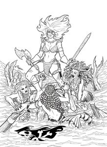 [Invincible Red Sonja #1 (Conner Line Art Virgin Variant) (Product Image)]