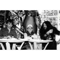 [Alan Moore and Ian Gibson signing Halo Jones Book 3 (Product Image)]