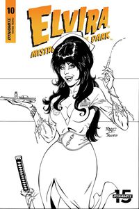 [Elvira: Mistress Of Dark #10 (Royle Black & White Variant) (Product Image)]
