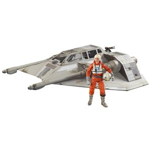 [Star Wars: The Empire Strikes Back: Black Series Vehicle Playset: Snowspeeder & Dack Ralter (Product Image)]