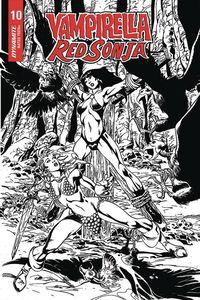 [Vampirella/Red Sonja #10 (Castro Black & White Variant) (Product Image)]
