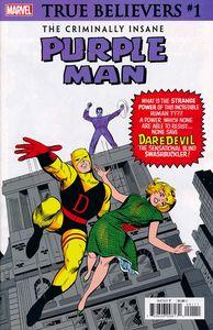 [True Believers: Criminally Insane: Purple Man #1 (Product Image)]