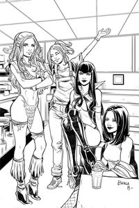 [Red Sonja & Vampirella Meet Betty & Veronica #11 (Braga Black & White Virgin Variant) (Product Image)]