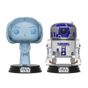 [Star Wars: Pop! Vinyl Figure: Holographic Leia & R2-D2 2 Pack (SDCC 2017 Exclusive) (Product Image)]