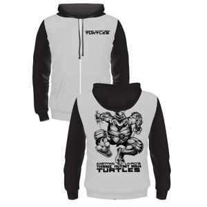 [Teenage Mutant Ninja Turtles: Hoodie: By Kevin Eastman & Peter Laird (Black & White) (Product Image)]