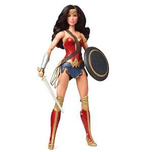 [Justice League: Black Label Barbie Doll: Wonder Woman (Product Image)]