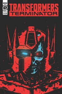 [The cover for Transformers Vs Terminator #1 (Cover A Fullerton)]