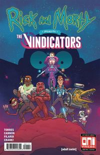 [The cover for Rick & Morty Presents: The Vindicators #1 (Cover A)]