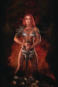 [Red Sonja: Price Of Blood #1 (Cosplay Virgin Variant) (Product Image)]