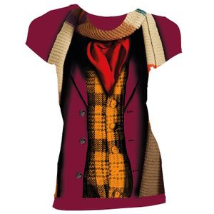 [Doctor Who: Women's Fit T-Shirt: 4th Doctor Costume (Product Image)]