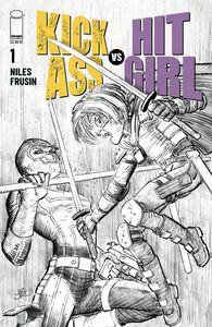[Kick-Ass Vs Hit-Girl #1 (Cover B Black & White Romita Jr) (Product Image)]