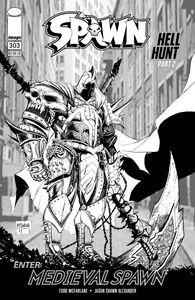 [Spawn #303 (Cover C Black & White Mcfarlane) (Product Image)]