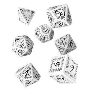 [Q-Workshop: White & Black Dice Set: Elvish (Product Image)]