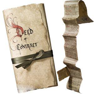 [The Hobbit: Prop Replica: Bilbo Baggins Contract (Product Image)]