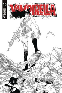 [Vampirella #10 (Gunduz Black & White Variant) (Product Image)]